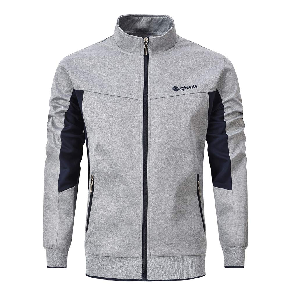 YSENTO Men's Sportswear Active Training Running Full-Zip Jackets Zipper Pockets by YSENTO
