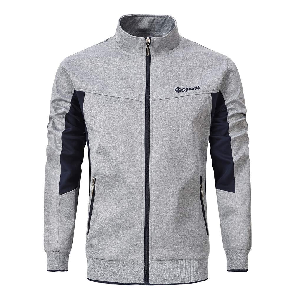 YSENTO Men's Sportswear Active Training Running Full-Zip Jackets Zipper Pockets