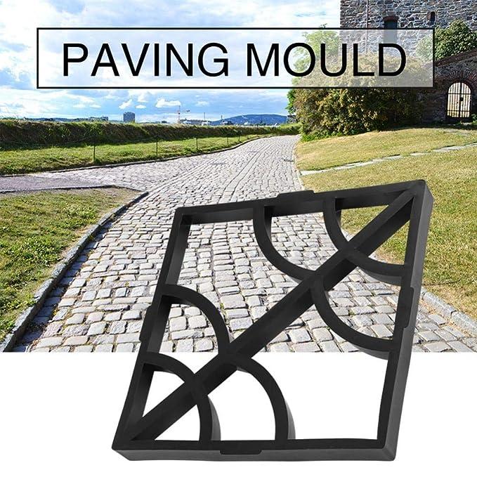 Molde de pavimentación, 15.75 x 15.75 x 1.57 pulg. Moldes de concreto para adoquines de concreto para losas Jardín Patio Entrada de auto: Amazon.es: Hogar