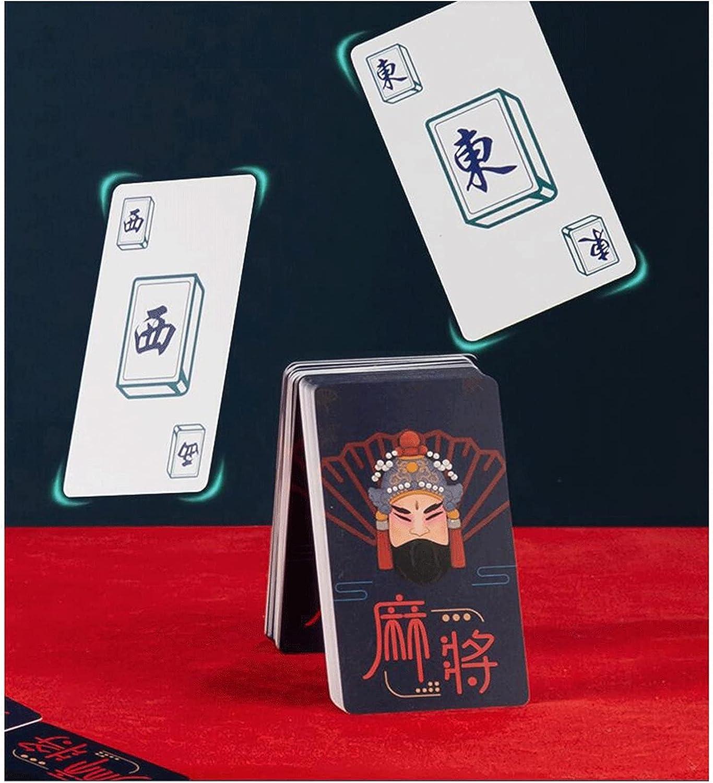 WDFDZSW 놀이 마작 카드를 재생 플라스틱 긴 카드 두꺼운 방수 고급 휴대용 여행 가정 144 트
