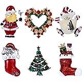 Jade Cherishブローチbrooch 男女を問わず 美しくて輝き ラインストーン ハート形とハート形  サンダさんの靴 プレゼントにびったり セット(6つ)