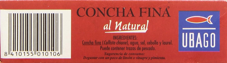 Ubago Concha Fina al Natural, Elaborado con Marisco Fresco - 62 g: Amazon.es: Amazon Pantry
