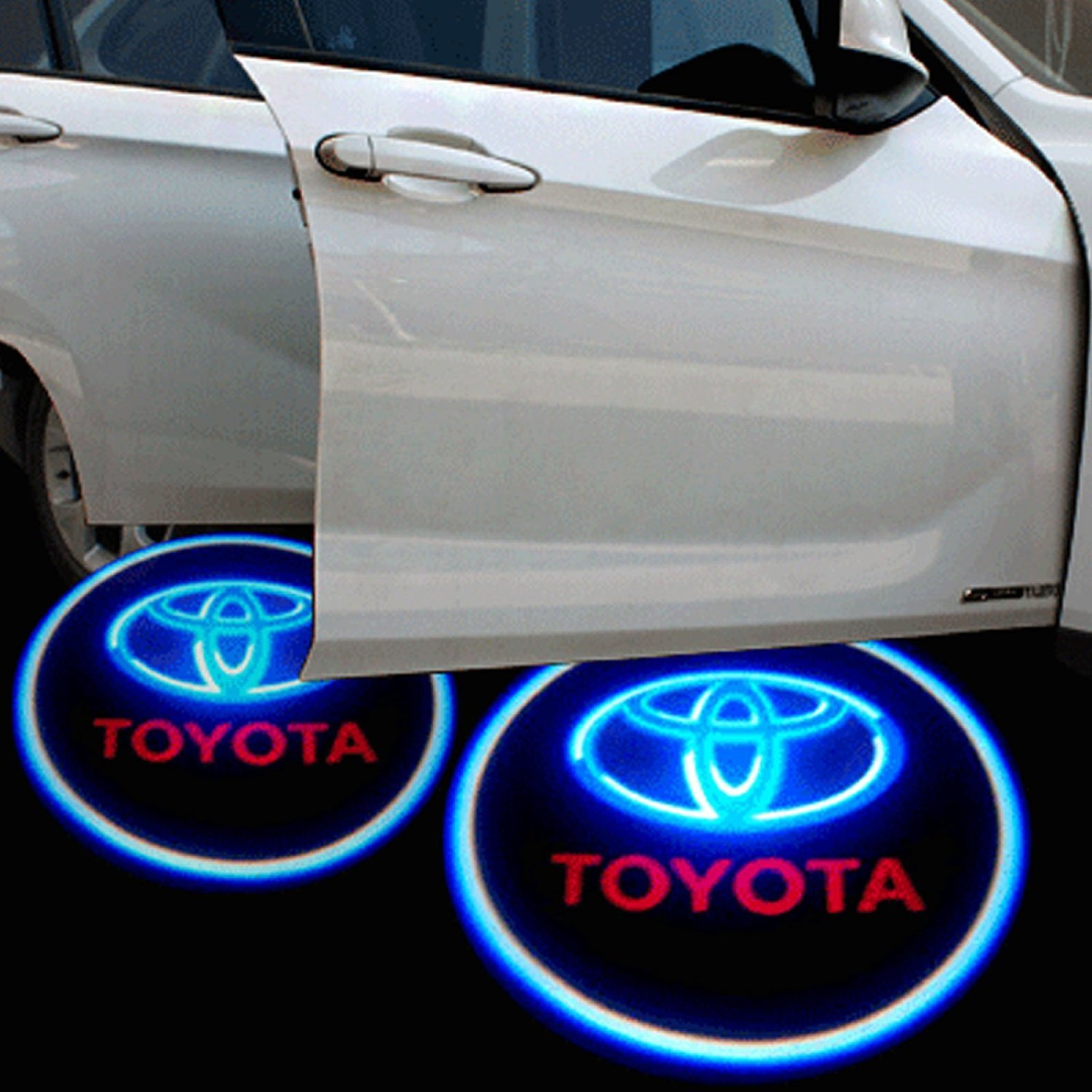 Amazon.com Soondar® 2 pcs Universal Wireless Car Projection LED Projector Door Shadow Light Welcome Light Laser Emblem Logo L&s Kit No Drilling (Toyota) ... & Amazon.com: Soondar® 2 pcs Universal Wireless Car Projection LED ...