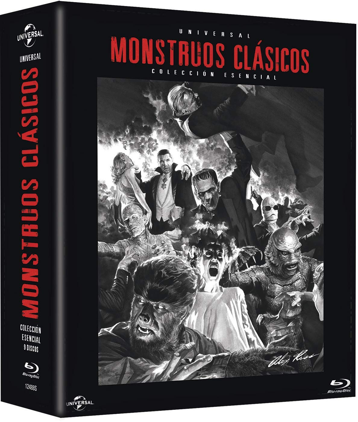 Pack: Monstruos Clásicos Universal BD Blu-ray 9 PELÍCULAS: Amazon ...