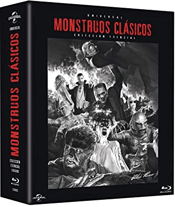 Pack: Monstruos Clásicos Universal BD Blu-ray 9 PELÍCULAS: Amazon ...