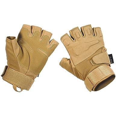c2f4ca2cd Amazon.com: MFH Protect Fingerless Gloves Coyote Tan: Clothing