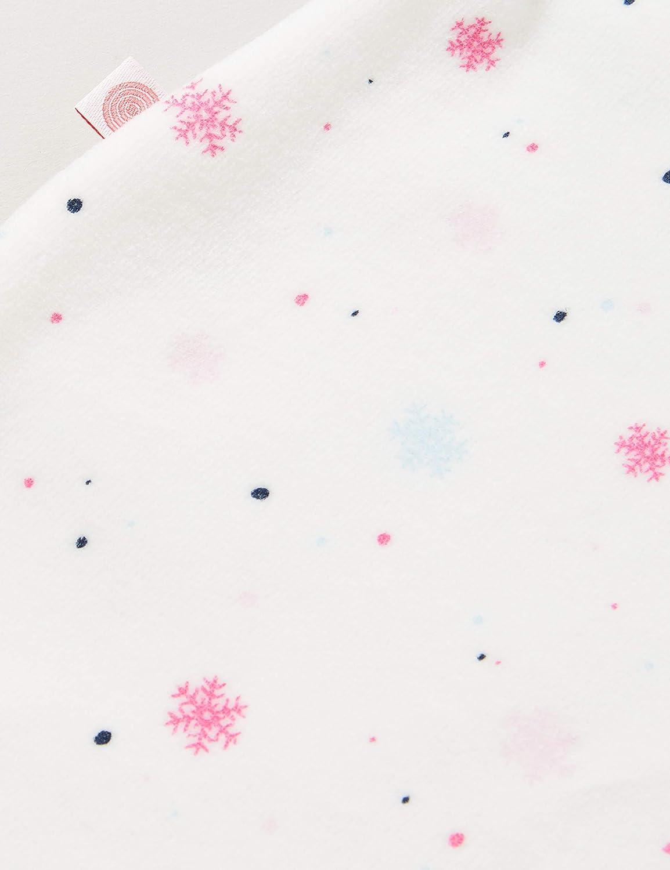 Sanetta Baby-M/ädchen Broken Toller Overall in Off White winterlichen Schneeflocken-Allover