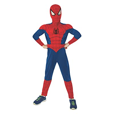 Rubie's Marvel Ultimate Spider-Man Deluxe Muscle Chest Costume, Child Medium - Medium One Color: Toys & Games