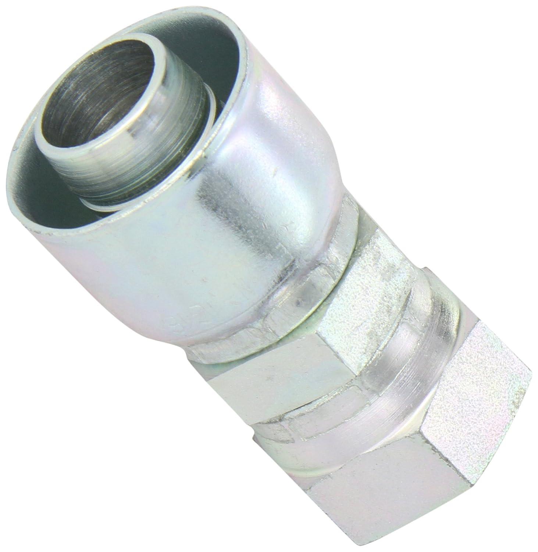 Over the Cover Aeroquip 1GA5FJ6 Carbon Steel Global OTC Crimp Hose Fitting JIC 37 Degree Female Swivel Straight 5//16 Tube Size 3//8 Hose ID 5//16 Tube Size Eaton 3//8 Hose ID