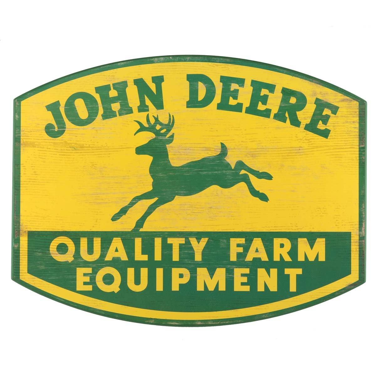 Amazon.com: Open Road Brands John Deere Wood Wall Art: Home & Kitchen