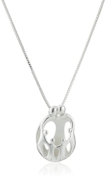 Parents /& Child Teardrop Pendant in Sterling Silver