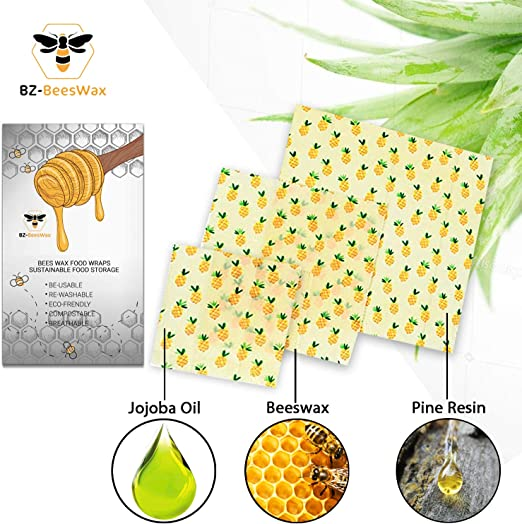 Envase de alimentos Biodegradable ecológica, Natural, Bee Wrap ...