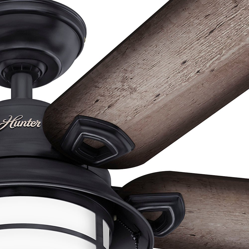 Hunter 59135 key biscayne 54 weathered zinc ceiling fan with five hunter 59135 key biscayne 54 weathered zinc ceiling fan with five burnished gray pinegray pine reversible blades ceiling fans amazon canada aloadofball Images