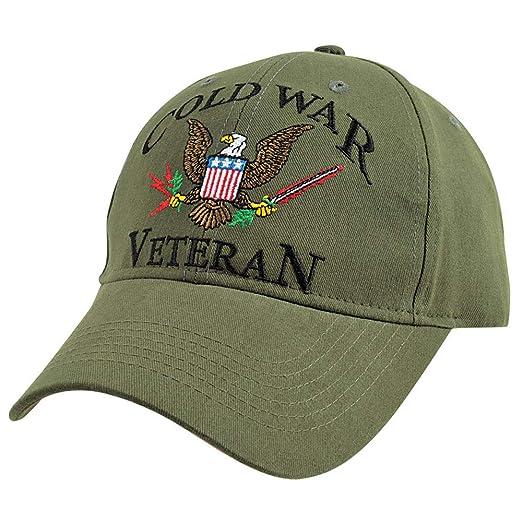 73c79464f85 Amazon.com  Medals of America Cold War Veteran OD Hat OD Green L XL ...