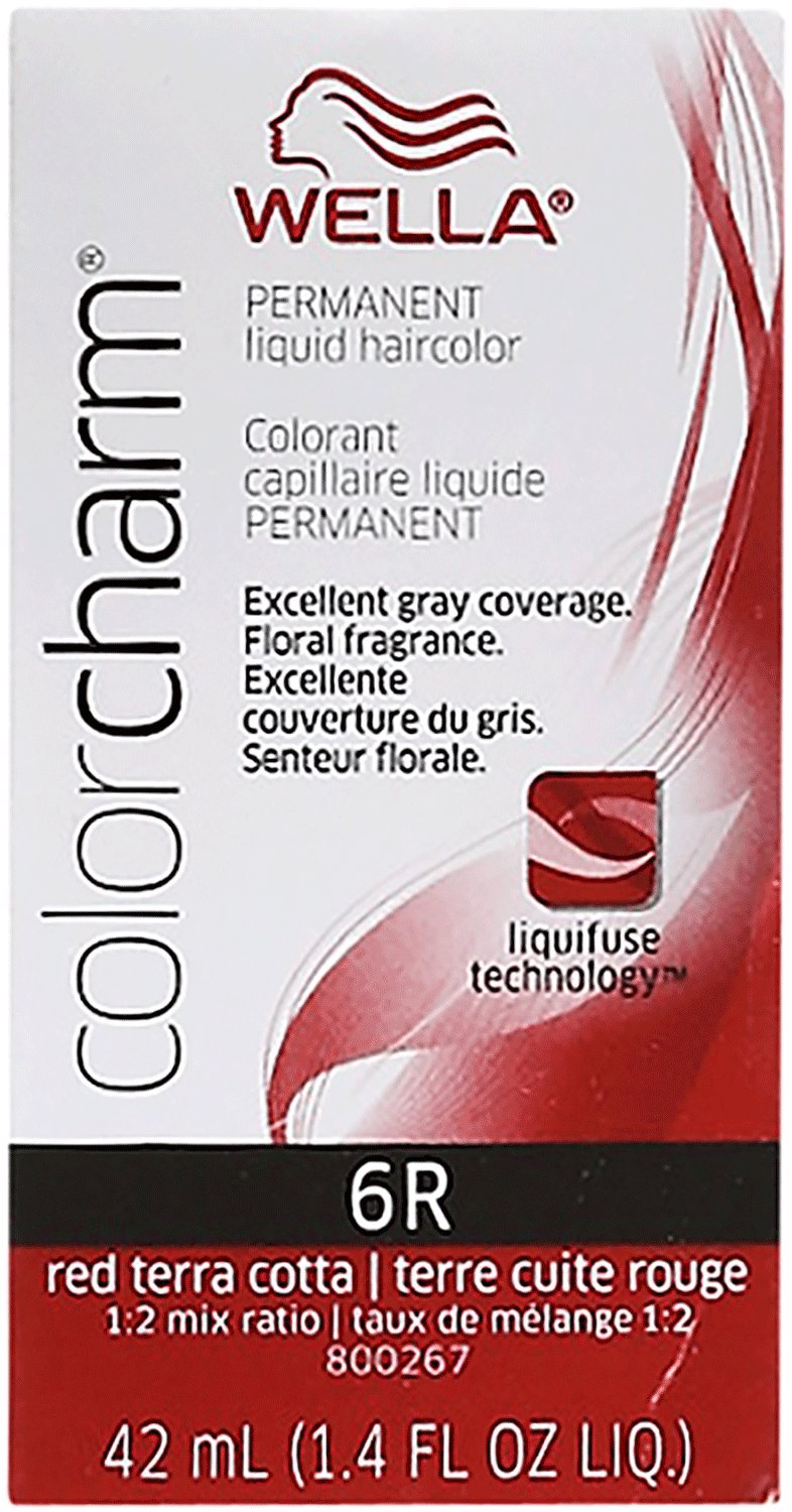 Amazon wella color charm 6116n dark blonde 6 pack red terra cotta color charm liquid permanent hair color nvjuhfo Image collections