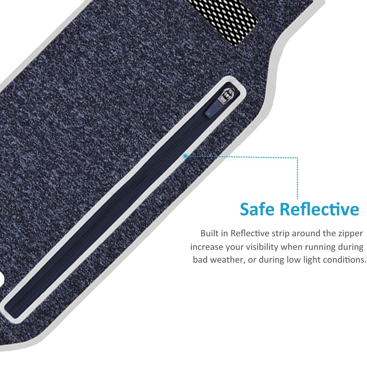 Riñonera, SQMCase Ultra-Slim impermeables cinturones de seguridad para correr Universal Fanny Riñonera con par de auriculares para excursionismo, ...