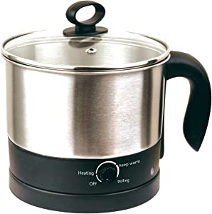70019 Uniware 1.2 Liter Stainless Steel 304 Electric Cooker With Rotating Base