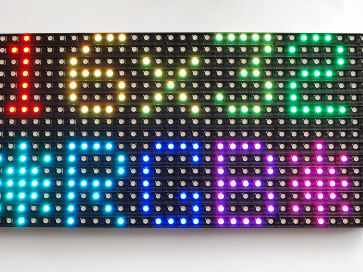 Adafruit 16x32 RGB LED matrix panel