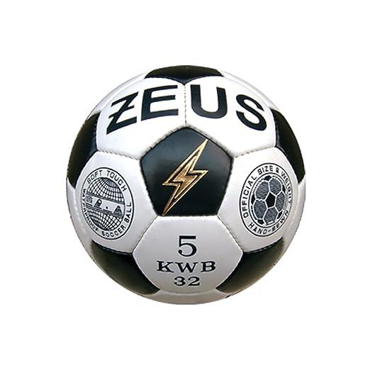 2 opinioni per Zeus Pallone da Calcio Kwb Gold Bianco-Nero