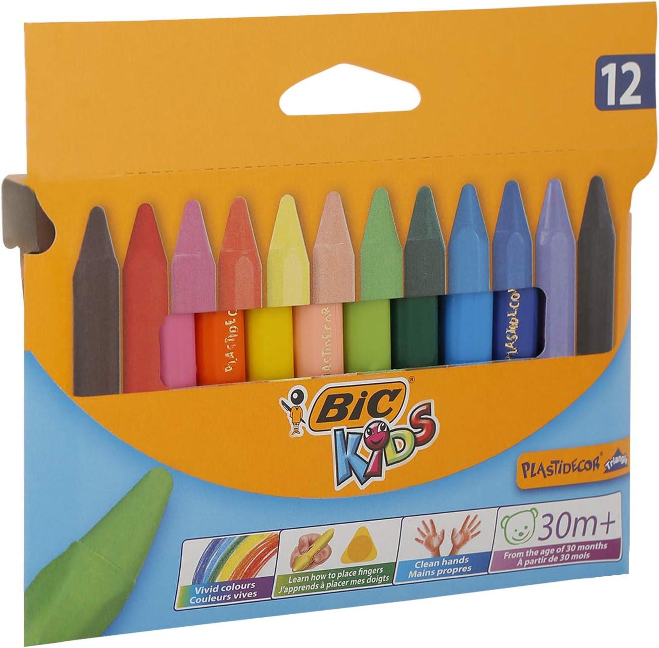 Craies de coloriage Plastidecor Triangle Bic Kids