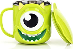 Disney Monster University Mike Green Durable Stainless Steel Insulated 3D Cup with Lid, 250ml