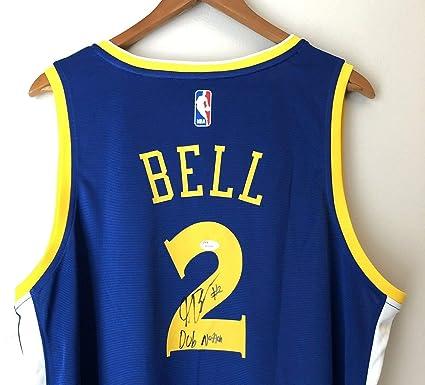 buy online e4e03 19d8d Jordan Bell Autographed Signed Memorabilia 2018 Nba Champs ...