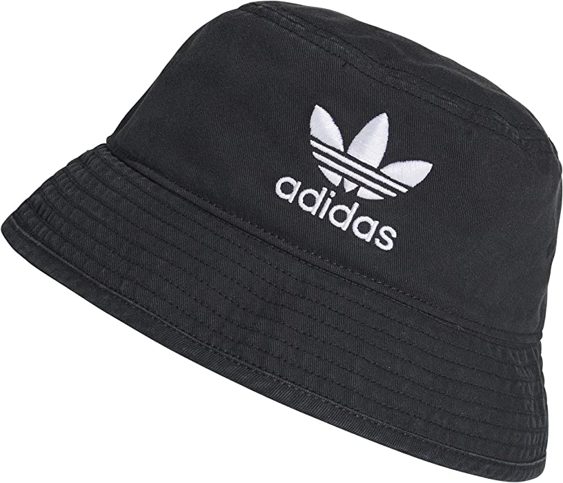 ae71aa2371 adidas Originals Bucket Hat Ac Hat One Size Black/White at Amazon ...