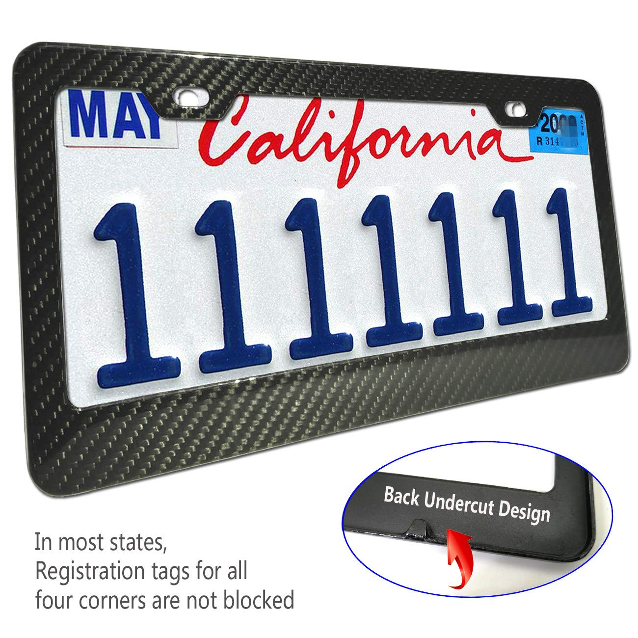 USA Flag Plate Frame for Women Stainless Steel Anti Theft Screws Finest AB Rhinestone Crystal Bling Flag License Plate Frame Luxury Bling Rhinestone Premium Stainless Steel License Plate Frames