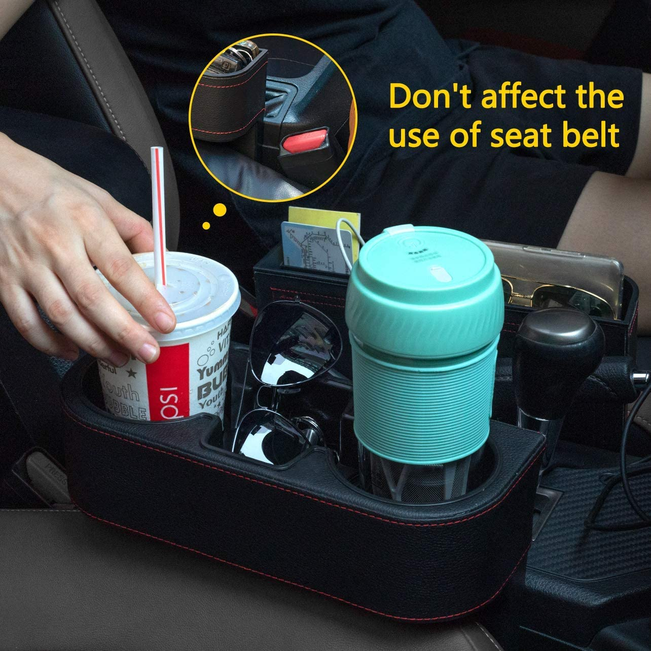 Wallets Arbnic 2 Packs Car Seat Gap Organizer for Storage Mobile Phones Keys Prevent Items from Falling and Let You Cup Within Reach Cups