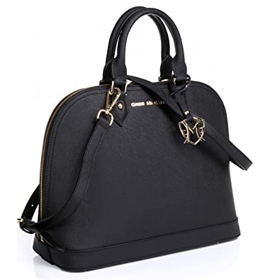 fbc27a90d243 Amazon.com: The Isabelle Tote in Black with embossed or w/o embossed ...
