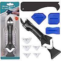 Ferramenta de calafetagem, Kit de ferramentas de calafetagem 3 em 1 de silicone com 5 almofadas de silicone…