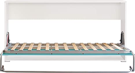 Cama Abatible Horizontal Plegable de Pared de 90x190 Color ...