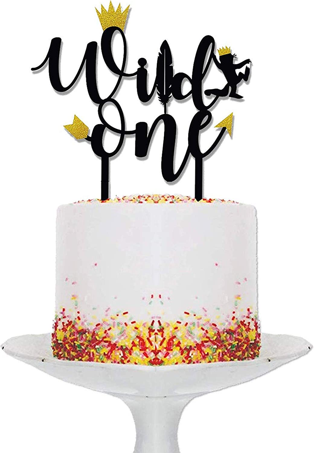 Remarkable Amazon Com Wild One Birthday Decorations I Wild One Cake Topper I Funny Birthday Cards Online Alyptdamsfinfo
