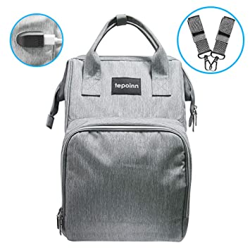 Amazon.com   Tepoinn Diaper Bag Backpack, Multi-Function Waterproof  Maternity Nappy Bags with Large Capacity, Durable and Stylish for Travel  with Baby   ... 5a7245c18b