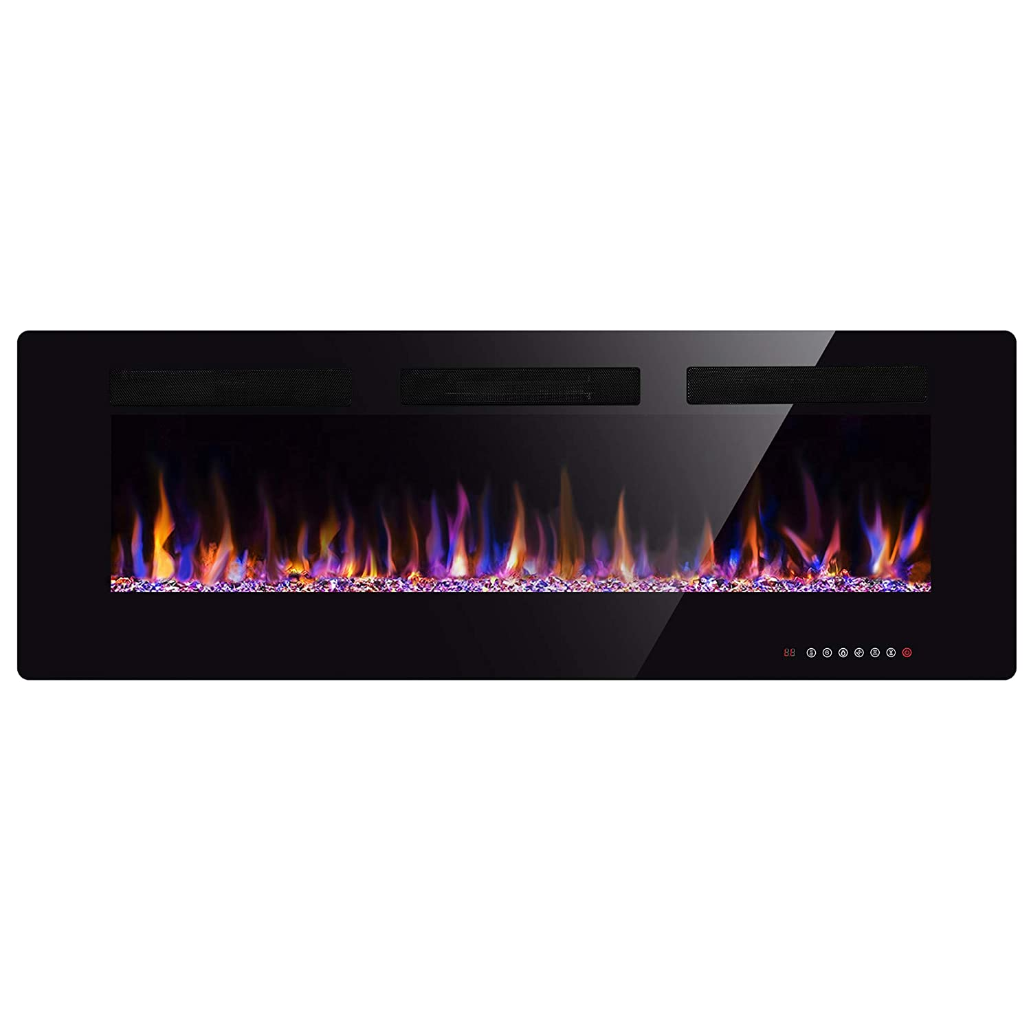 5 Wall Fireplace Review Xbeauty 50 Electric Fireplace In Wall Recessed Wall Mounted 1500w Fireplace Heater Linear Fireplace Timer Multicolor