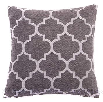 Amazon.com: Funda de cojín geométrica de lujo de color gris ...
