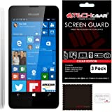 [Pack of 3] TECHGEAR® Microsoft Lumia 550 CLEAR LCD Screen Protector Guard Covers with Cleaning Cloth & Application Card (a.k.a Nokia Lumia 550)