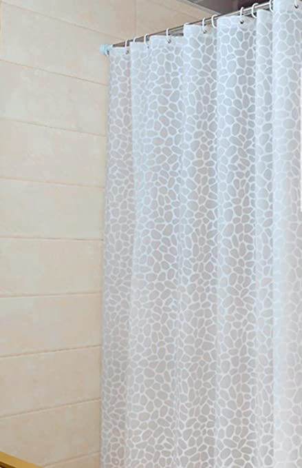 Sfoothome PEVA Bath Curtain Waterproof Mildew Free Shower Or Liner Stall Small Size