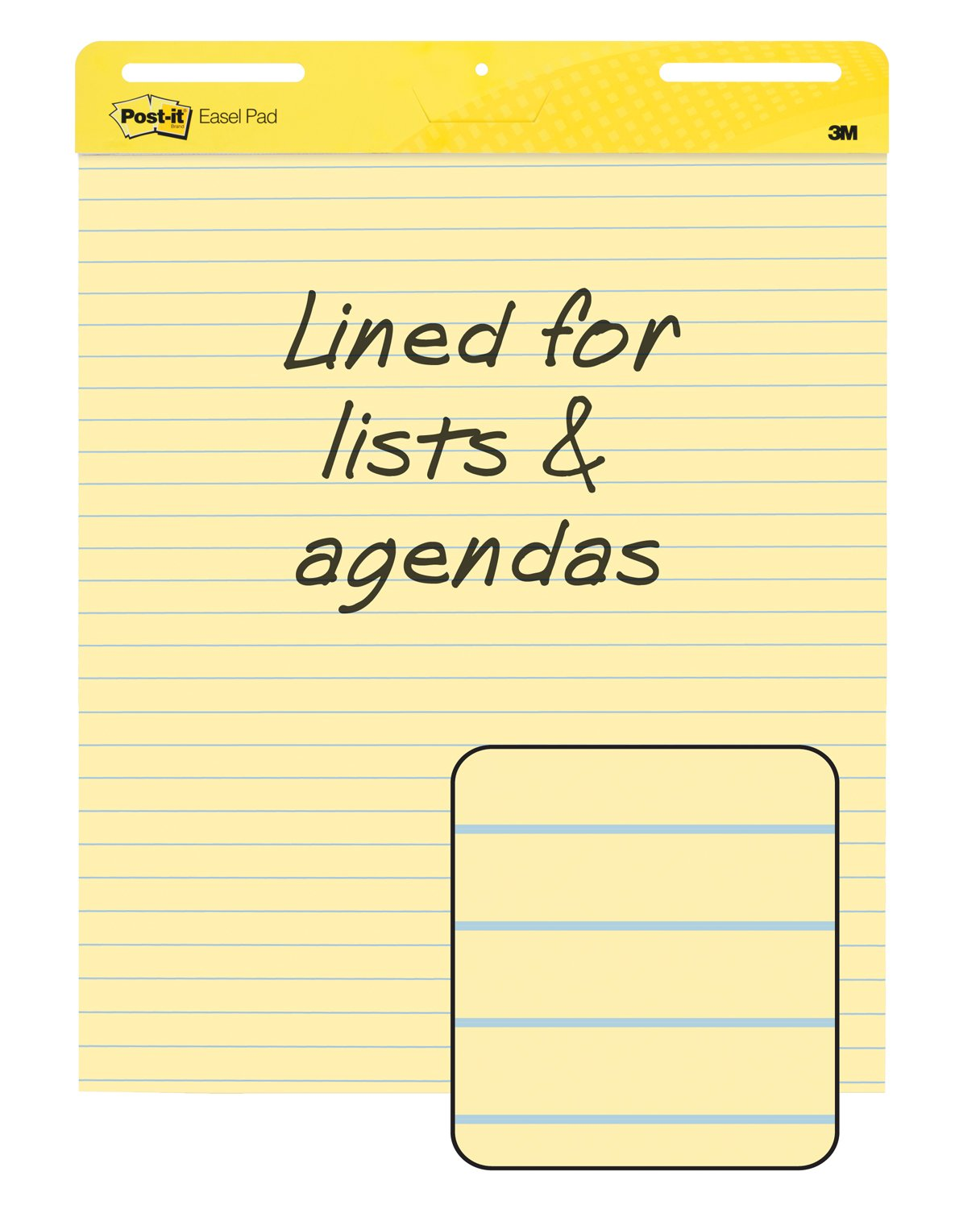 Amazon Postit Easel Pads 561 Self Stick Easel Pads Ruled – Lined Chart Paper