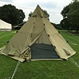 QEXAN Custom Norway Lavvo Teepee Tent 100% Waterproof Ripstop Fabric for 8-10 persons