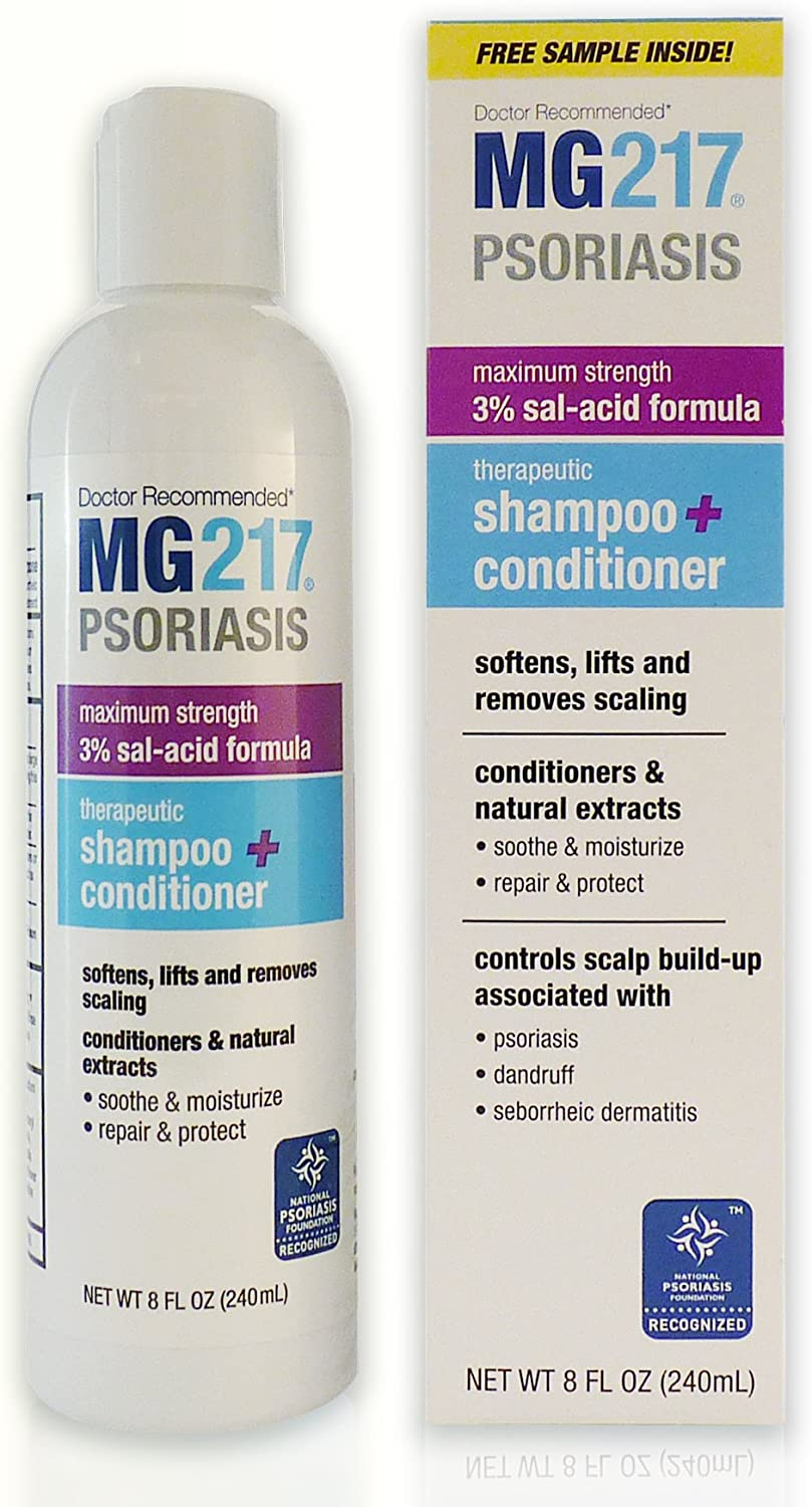 MG217 Psoriasis 3% Salicylic Acid Therapeutic 2 in 1 Shampoo and Conditioner