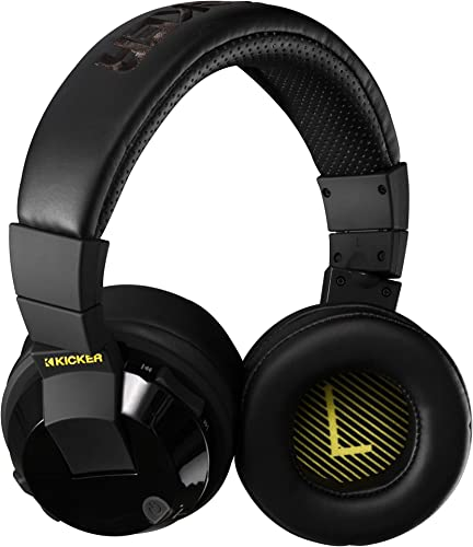 Kicker Tabor2 Bluetooth Headphones Over The Ear Wireless Earphones with Microphone, Passive Noise Reducing, Soft Comfort Padding, Extra Bass Clear Crisp Treble