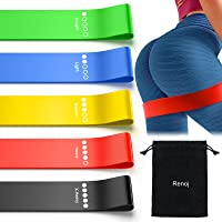 Exercise Bands Workout Bands for Booty Resistance Bands Set with Instruction Guide and Carry Bag