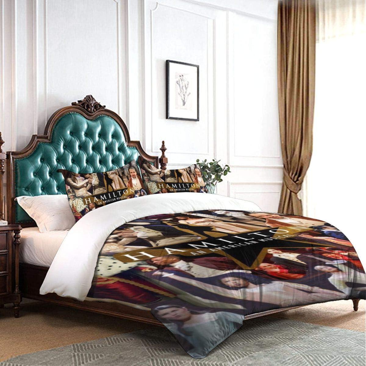 "IIIUUbhswb Hamilton 3-Piece Bedding Set 86""X70"" Soft Printed Microfiber Comforter Cover with Zipper Closure: Home & Kitchen"