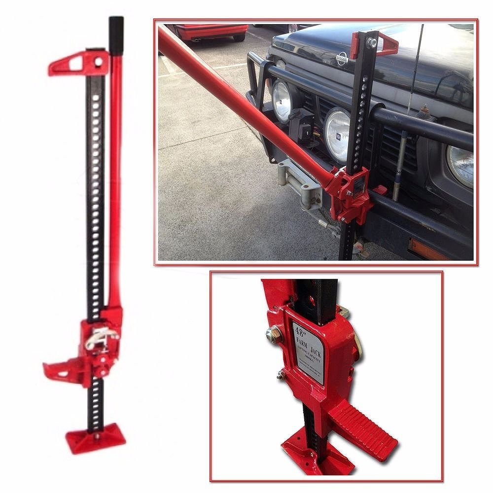 GHP 6''-48'' Lift 6600Lbs Capacity Steel Off-Road Lifting Pulling Spreading Farm Jack