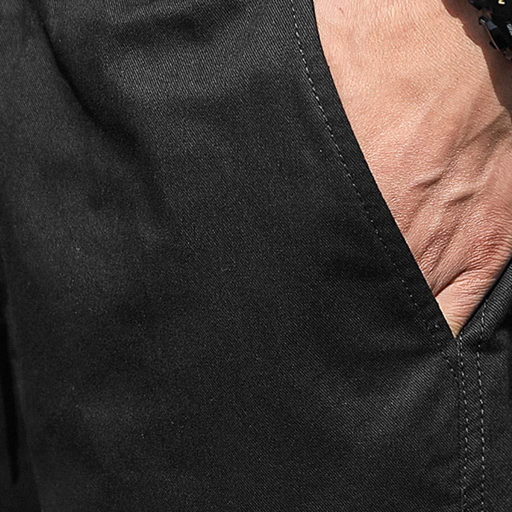 Fuibo V/êtements Homme Shorts Cargo Pantacourt Coton Multi Poches Loisirs Casual Et/é Pantalon Court Taille /Élastique Pants Respirant pour Fitness Gym Jogging