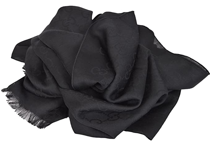 551b25fc144 Image Unavailable. Image not available for. Colour  Gucci Women s Wool Silk  GG Guccussima Black Scarf