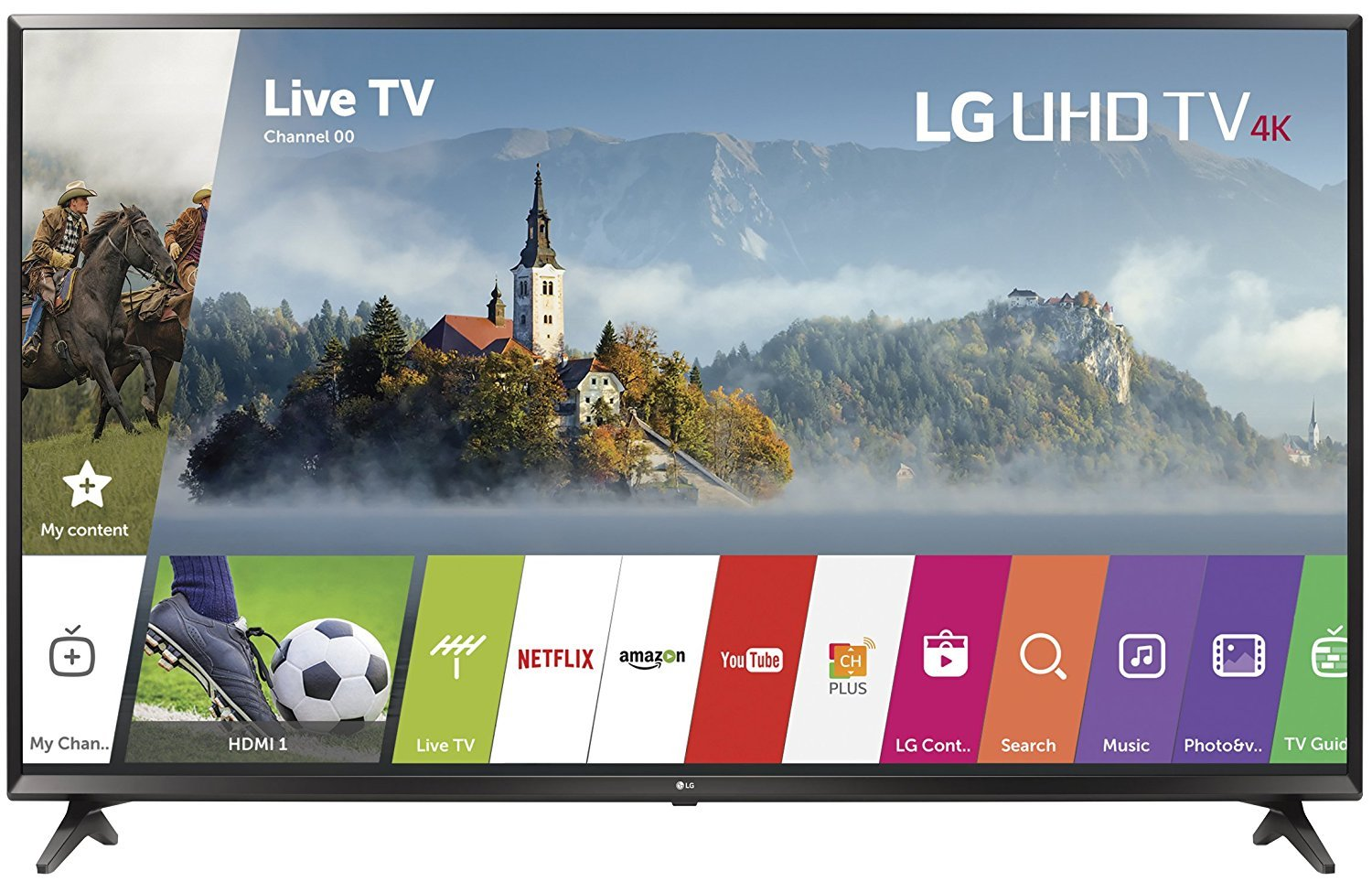 $597 (was $698) LG Electronics Canada 55UJ6200 55″ 4K Ultra HD Led Television (2017)