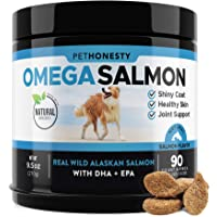 Salmon Oil for Dogs - Omega 3 Fish Oil For Dogs All-Natural Wild Alaskan Salmon...