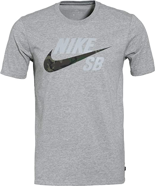 customers first big discount of 2019 crazy price Nike SB Mens Dry DFC Camo Logo T-Shirt AT2657 (Medium, Dark ...